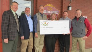 Presentation of 2015 Platinum level sponsorship to Focus Central PA Shown left to right:  Don Alexander, Eric Winslow, Gary Shields, Lauren Bryson, Joe Kantz and Todd Hunter